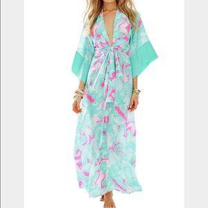 ISO Lily Pulitzer Daniella Maxi Kimono Dress M